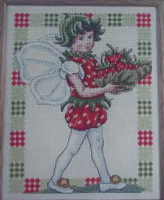 Strawberry Fairy ~ Flower Fairies ~ Cross Stitch Chart
