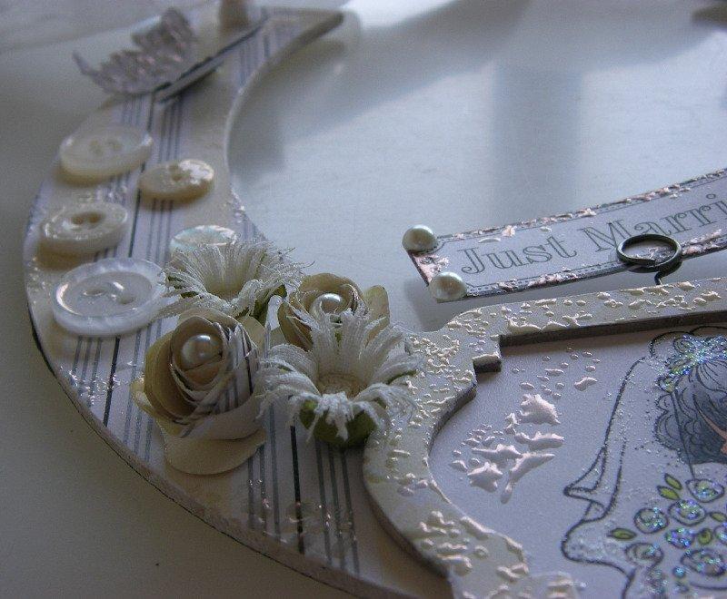just married wedding horseshoe left