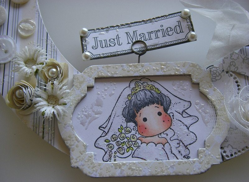 just married wedding horseshoe image