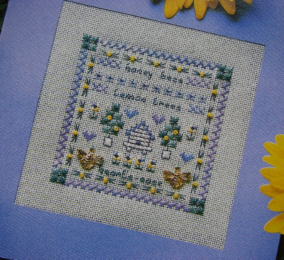 Honey Bee Sampler ~ Counted Thread Embroidery Pattern