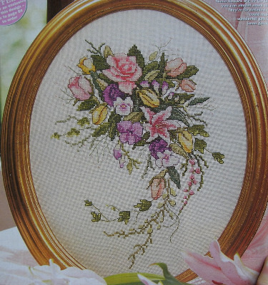 Bridal Bouquet ~ Cross Stitch Chart