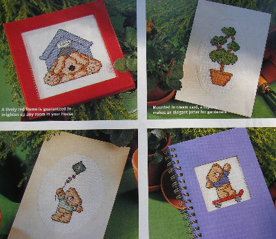 35 Garden Teds and Motifs ~ Cross Stitch Charts