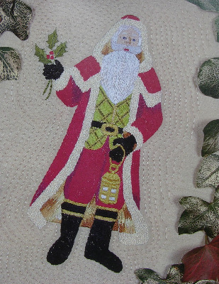 Silk Embroidery Santa Claus ~ Hand Embroidery Pattern