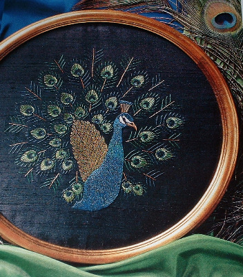 Stunning Peacock ~ Hand Embroidery Pattern