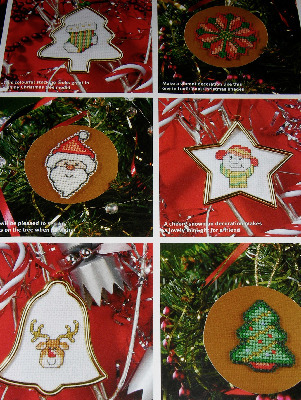 30 Christmas Motifs for Cards, Decorations, Gifts ~ Cross Stitch Charts