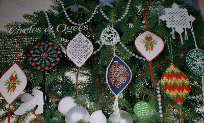 Seven Christmas tree Decorations ~ Cross Stitch & Embroidery Patterns