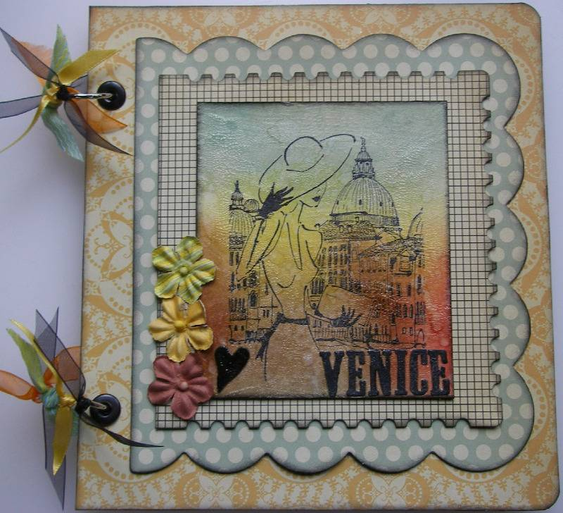 heart Venice travel scrapbook album full