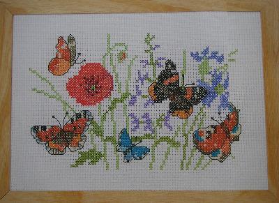 Butterflies & Wildflowers ~ Cross Stitch Chart