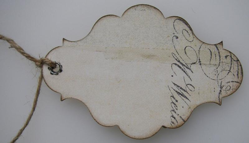 memories handmade vintage tag back