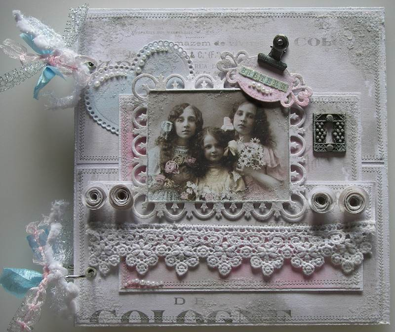 sisters front full handmade scrapbook photo album