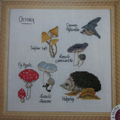 October Nature Sampler ~ Cross Stitch Chart