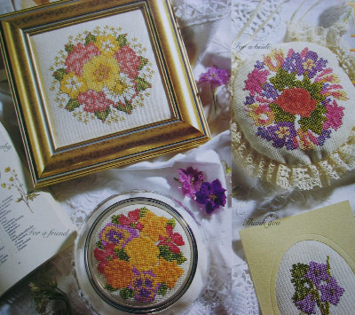 Language of Flowers ~ Five Cross Stitch Charts