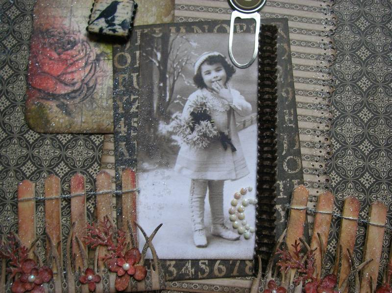 autumn into winter vintage memory album image