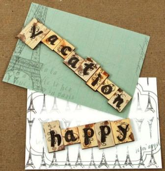 Prima ~ Welcome to Paris Wood Embellishments 558789
