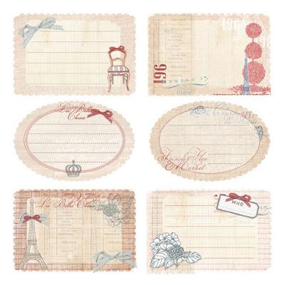 Prima ~ En Francais Journaling Notecards 554866