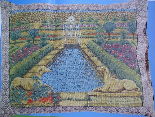 Jill Gordon: Formal Garden Cushion ~ Cross Stitch Chart