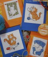 Four Cat Cards ~ Cross Stitch Charts