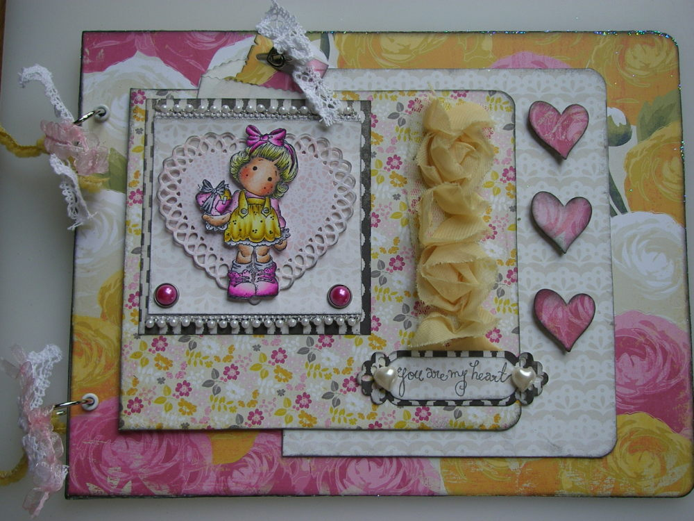 *you are my heart* OOAK Handmade A4 Valentine/Love Scrapbook Photo Memory A