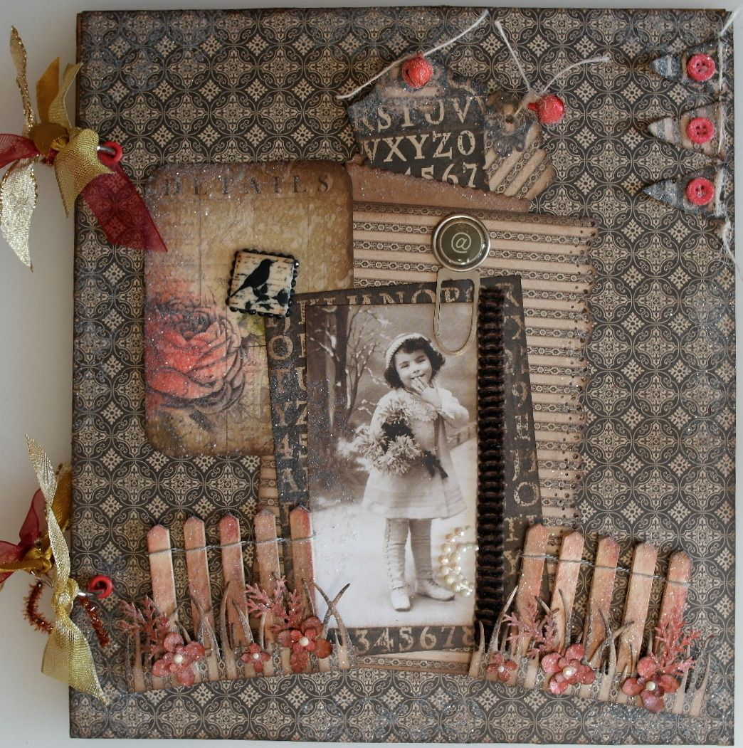 *autumn into winter* OOAK Handmade Vintage Scrapbook Photo Memory Album