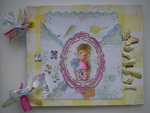 *where flowers bloom* OOAK Handmade Scrapbook Photo Memory Album