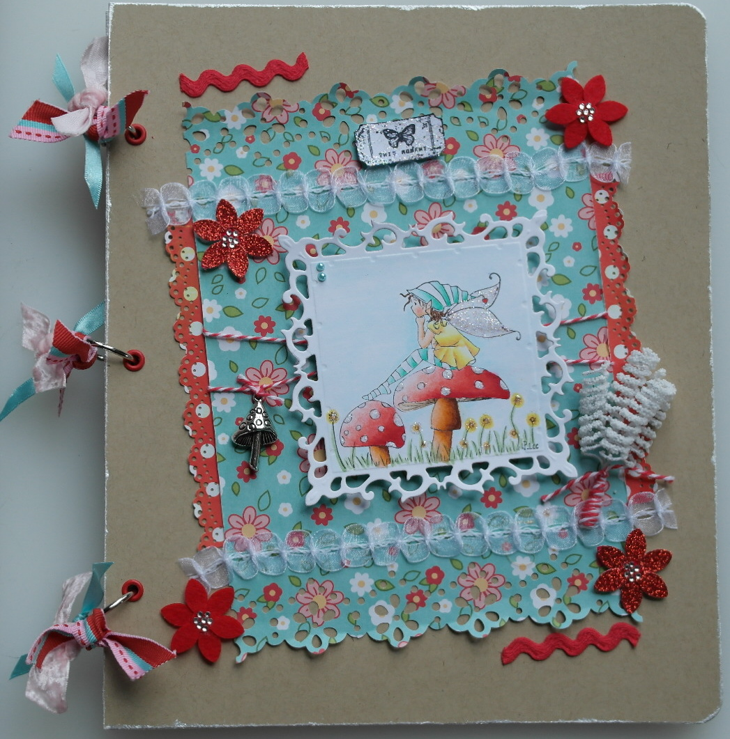 Handmade Scrapbook Cover ~ Handmade creations by shireen mini scrapbook album
