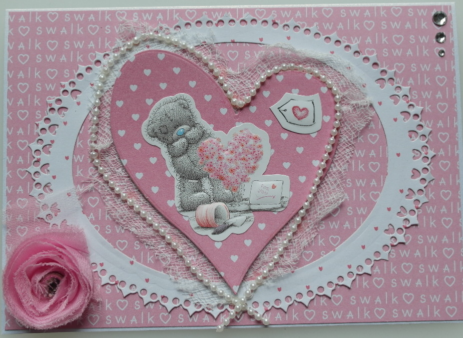 *me to you Tatty Ted ~ swalk* OOAK Handmade Luxury Boxed Card