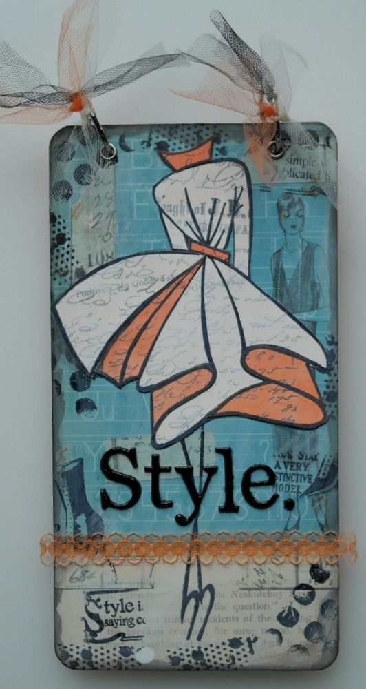 *style* OOAK Mixed Media Style Handmade Journal Notebook Photo Memory Album