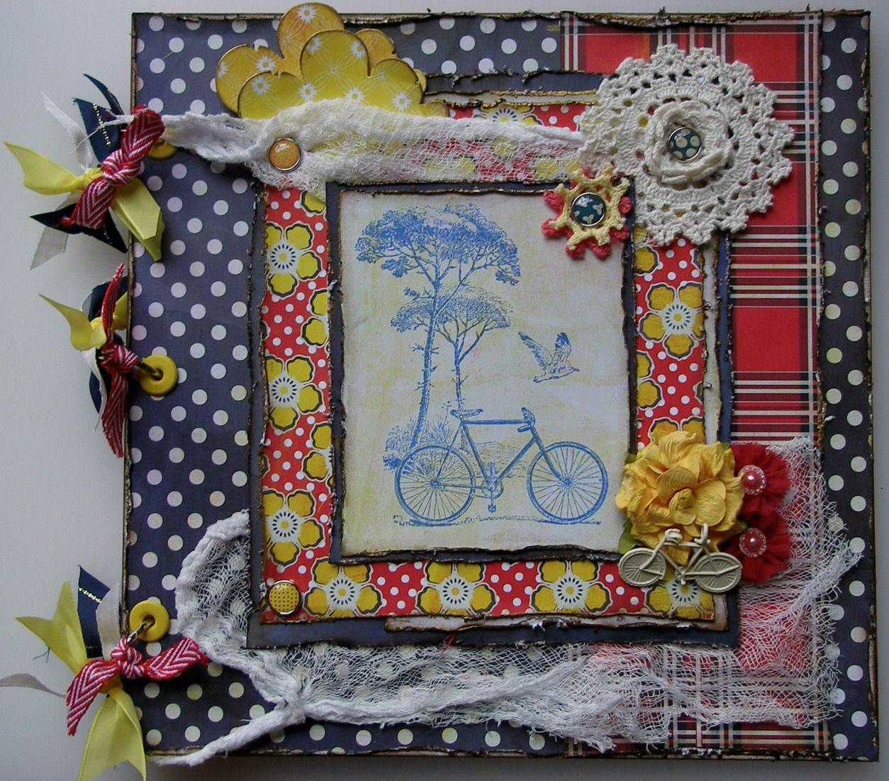 *bicycles*OOAK Handmade Cycling Olympics/Holiday Scrapbook Photo Album