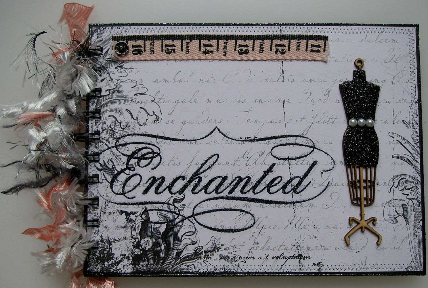 *enchanted* OOAK Handmade Journal Scrapbook Photo Memory Album