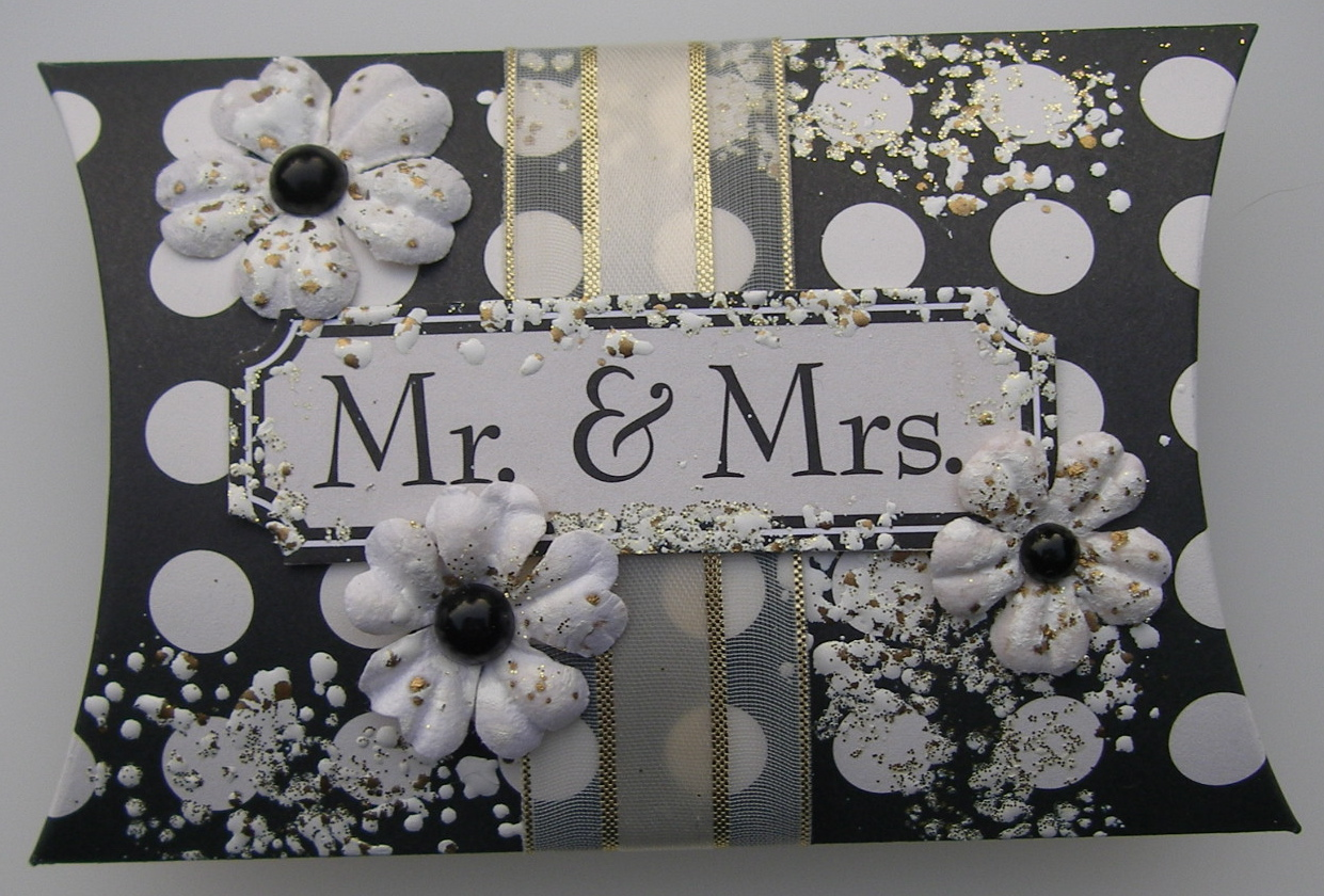 *mr & mrs* OOAK Handmade Wedding Pillow Box Favor Box