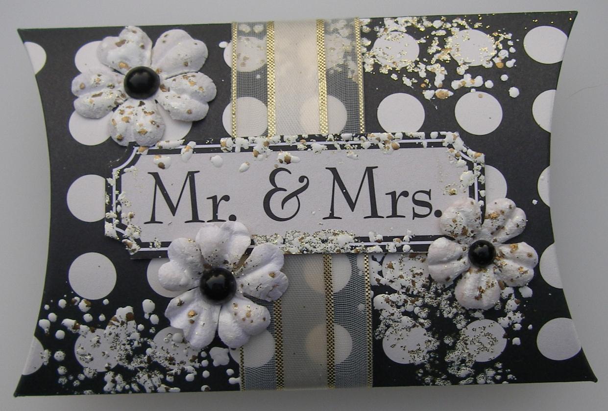 *mr & mrs* OOAK Handmade Wedding Pillow Box Favor Box