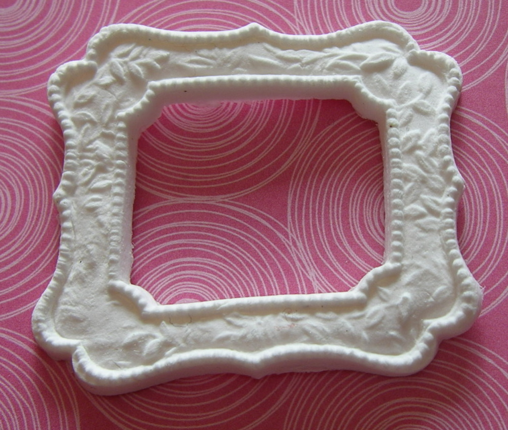 Martha Stewart Decorative Rectangle 1 Paper Clay Embellsihment
