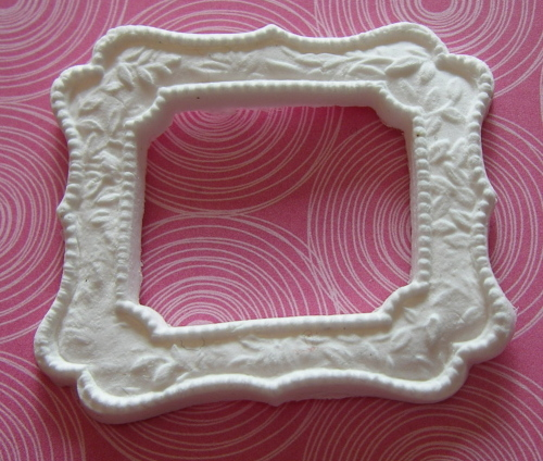 Martha Stewart Decorative Rectangle 1 Paper Clay Embellsihment
