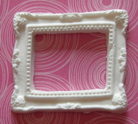 Martha Stewart Decorative Rectangle Frame 2 Paper Clay Embellishment