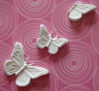 Martha Stewart Three Decorative Butterflies Paper Clay Embellishments