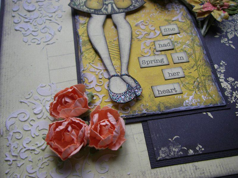 spring in her heart orange flowers
