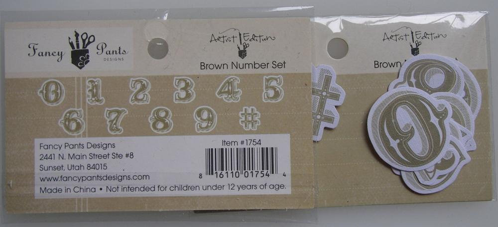 Fancy pants ~ Artist Edition Brown Number Set #1754