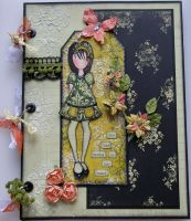 *she had Spring in her heart* OOAK Handmade A4 Scrapbook Photo Memory Album