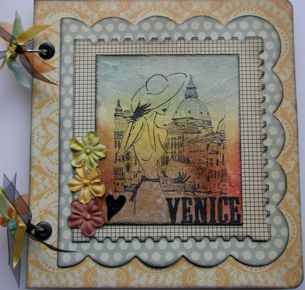 *♥ Venice* OOAK Handmade Travel Memory Photo Album
