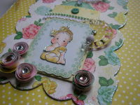 *so sweet* OOAK Handmade Baby Girl Photo Memory Album