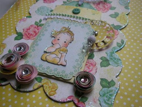 *so sweet* OOAK Handmade Baby Girl Photo Memory Album