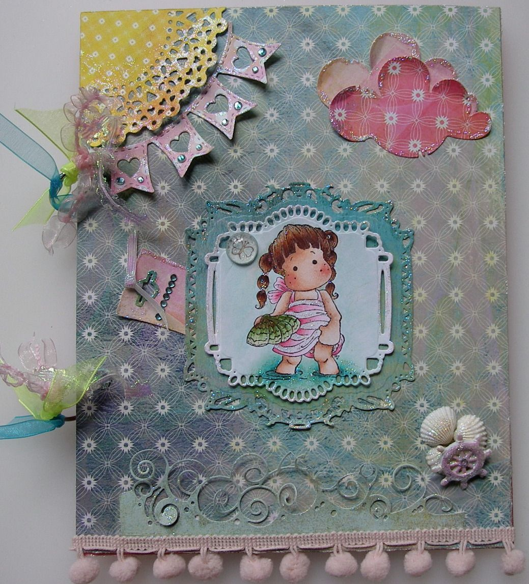 *by the seaside* OOAK Handmade Beach Holiday Scrapbook Photo Album