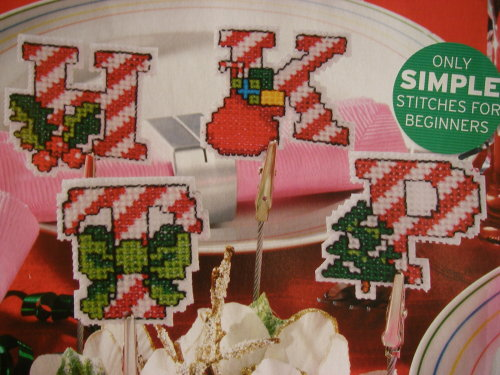 Christmas Candy Cane ABC Alphabet ~ Cross Stitch Charts