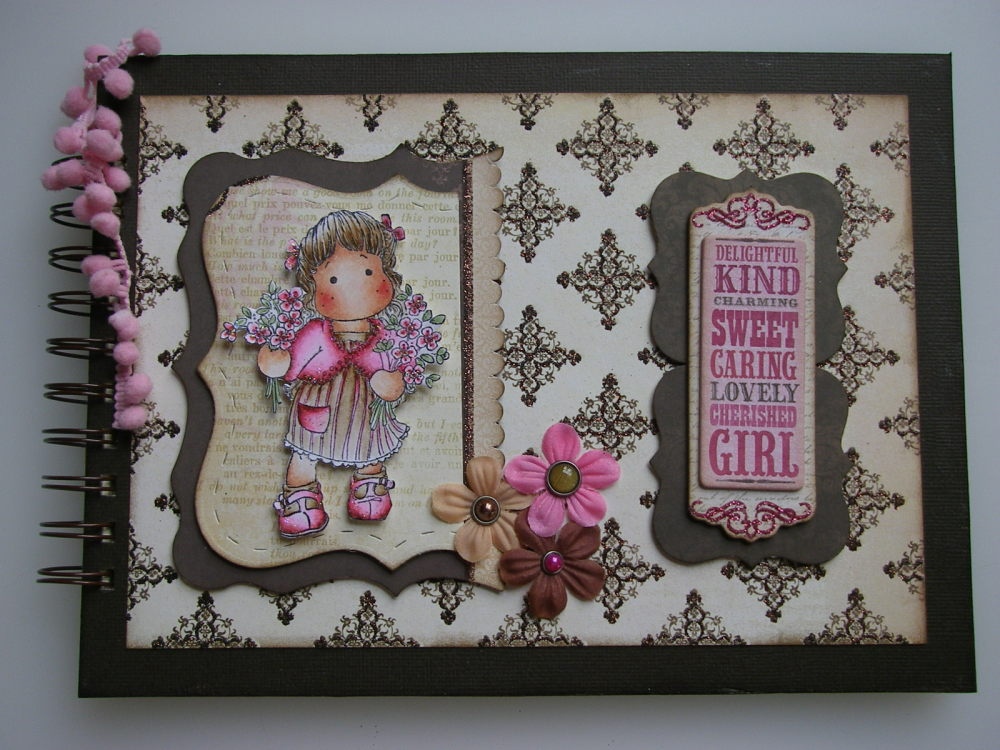 *cherished girl* OOAK Handmade Scrapbook Photo Memory Album