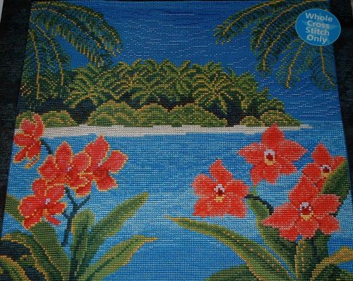 Tropical Paradise Island ~ Cross Stitch Chart