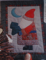 Father Christmas/Santa Claus Machine Applique Quilt Sewing Pattern