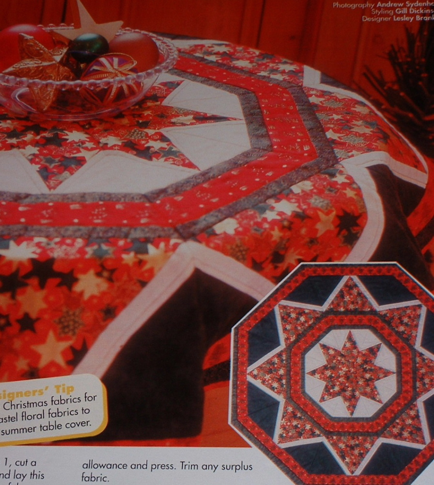 Octagonal Christmas Table Mat Patchwork Sewing Pattern