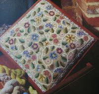 Flowers & Scrolls Canvaswork Footstool/Cushion ~ Pattern