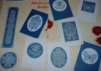 Cards, Coasters & Fingerplate ~ Blackwork Patterns