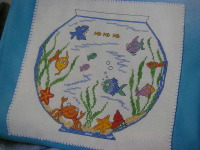 Goldfish Bowl & Fish Towel Bandings ~ Cross Stitch Charts